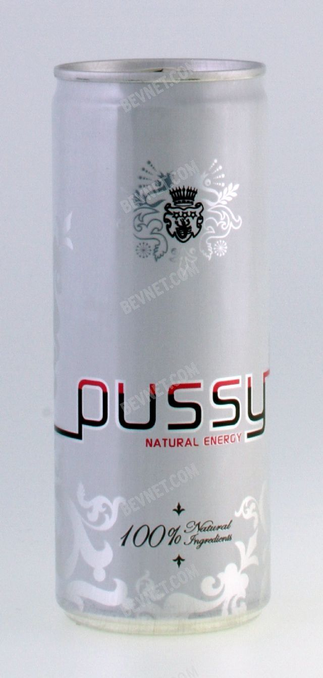 Pussy Energy Drink Can front