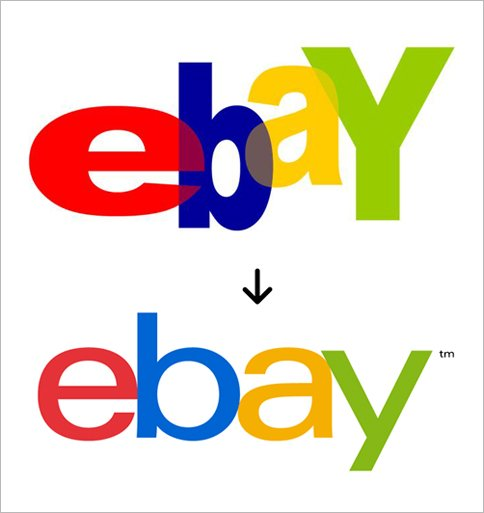 New and old Ebay logos